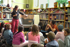 Eco-friendly storytelling in the children's library